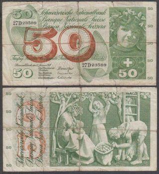 Switzerland 10 Franchi 30 Juni 1967 No 006037