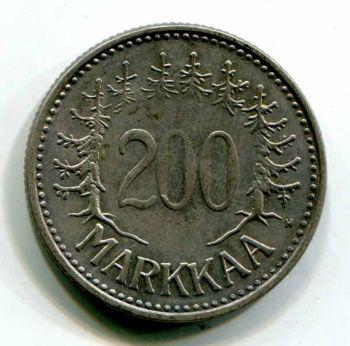 FINLAND 200 MARKKAA 1956 AUNC-UNC