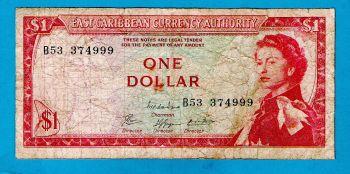 EAST CARIBBEAN 10 DOLLARS P 43 V Vincent UNC