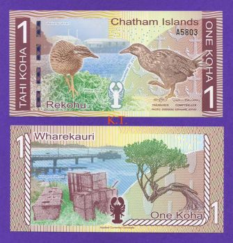 CHATHAM ISLANDS 1 KOHA 2013 POLYMER UNC