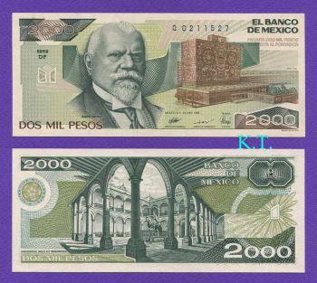 MEXICO 2.000 Pesos 26-03-1989 P 86c UNC