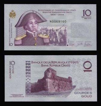 HAITI 10 GOURDES 2014 UNC
