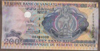 VANUATU 200 VATU 2014 POLYMER  UNC