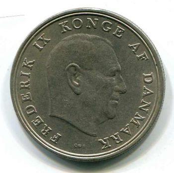 DENMARK 5 KRONER 1966 AUNC