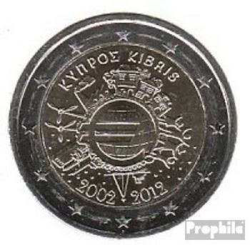CYPRUS 2 EURO 2012 -10 YEARS OF EURO- ROLL 25 UNC COINS