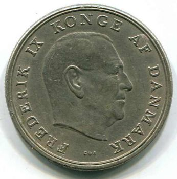 DENMARK 5 KRONER 1962 Xf-AU