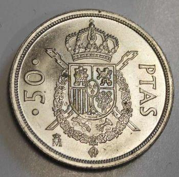 SPAIN 50 PESETAS 1983 AUNC