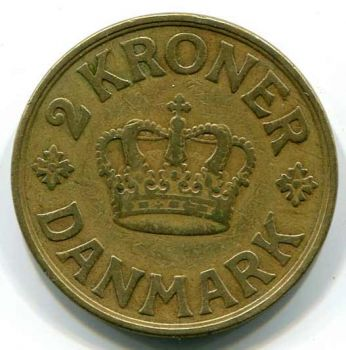DENMARK 2 KRONER 1925