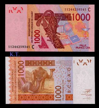 BURKINA FASO (WEST AFRICAN STATES) 1000 FR 2003 (2011) P-315C