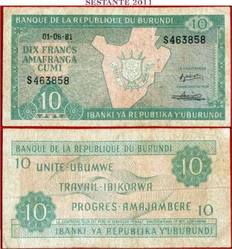 BURUNDI 1000 FRANCS 2009 P NEW  UNC