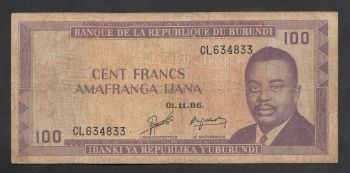 BURUNDI 50 FRANCS 1.5.1993 P-28 UNC