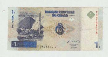 CONGO SET (5), 1-5-10-20-50 CENTIMES UNC