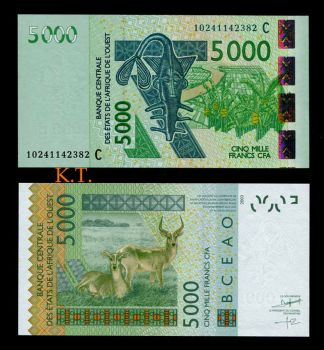 BURKINA FASO (WEST AFRICAN STATES) 5000 FR. 2003(2010) P-317