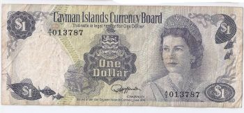 CAYMAN ISLANDS 1 DOLLAR 2010 - 2011 QEII P-NEW UNC