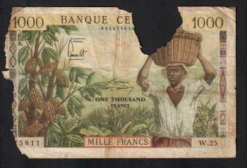 CAMEROUN (CENTRAL AFRICAN STATES)  1000 FRANCS 2002 P-202E,UNC