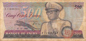 Congo 1000 Francs 1964 CANCELED (με διάτρητα αστέρια) XF-AUN