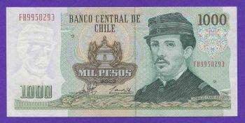 CHILE 1000 PESOS 2002 P 154f UNC