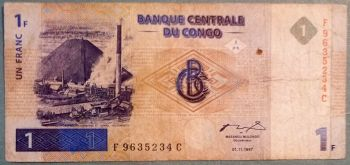 CONGO (CENTRAL AFRICAN STATE) 500 FRANCS 2002 P-106T UNC