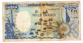 CHAD (CENTRAL AFRICAN STATE) 1000 Francs 2000 P-602P  UNC