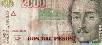COLOMBIA 2000 PESOS 7-3-2005 P-457 UNC