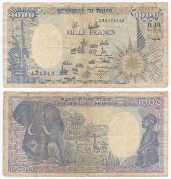 CHAD (CENTRAL AFRICAN STATES) 1000 FR. 1994 P602Pb UNC