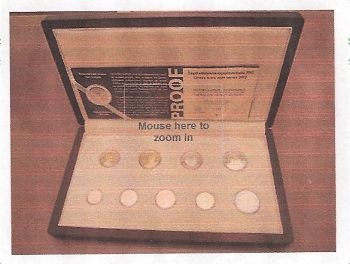 Greece: Proof set 2012 9 coins EURO with C,O,A, BU UNC!!! (wooden case)!