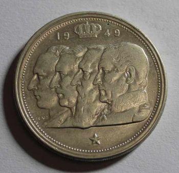 BELGIUM 100 FRANCS 1949 ΑΣΗΜΕΝΙΟ ΕΞΑΙΡΕΤΙΚΟ