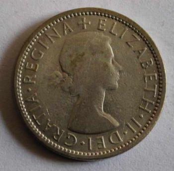 AUSTRALIA 1 SILVER FLORIN 1953