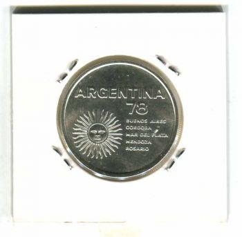 ARGENTINA SILVER 3000 PESOS 1978 FOOTBALL AUNC