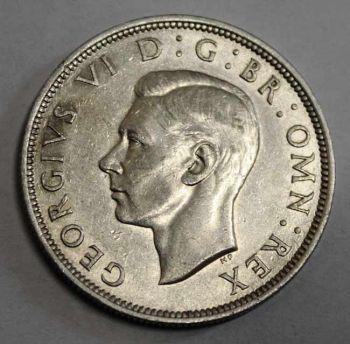 ENGLAND SILVER Half Crown 1942 EΞΑΙΡΕΤΙΚΟ