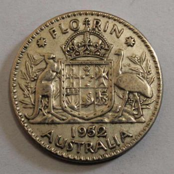 AUSTRALIA 1 SILVER FLORIN 1952 ΕΞΑΙΡΕΤΙΚΟ