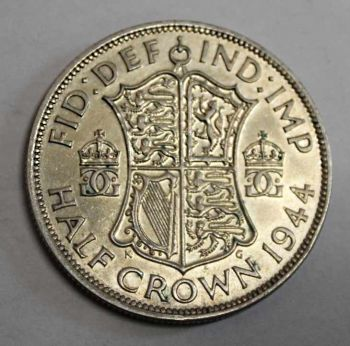 ENGLAND SILVER Half Crown 1944  EΞΑΙΡΕΤΙΚΟ