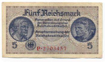 5 ΜΑΡΚΑ ΓΕΡΜΑΝΙΚΗ ΚΑΤΟΧΗ ΕΛΛΑΔΟΣ (5 REICHSMARK GERMAN OCCUPATION OF GREECE)