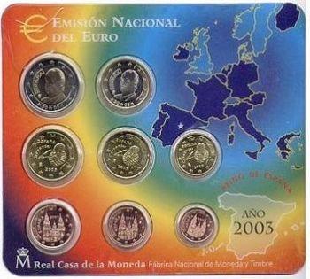 ESPANA - SPAIN. Euro set BU 2003