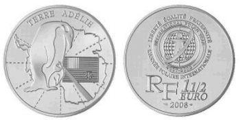 FRANCE 1.50 Euro silver Proof 2008 Terre Adélie- International Polar Year