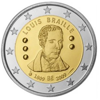 Belgium 2009 2 Euro Commemorative Louis Braille