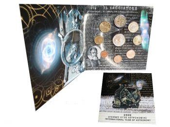 Greece - Euro coins, Official BU Coin Set 2009   10 Euro Silver International Year of Astronomy
