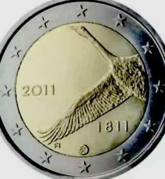 FINLAND 2 EURO COMMEMORATIVE 2011 ROLL 25 UNC COINS