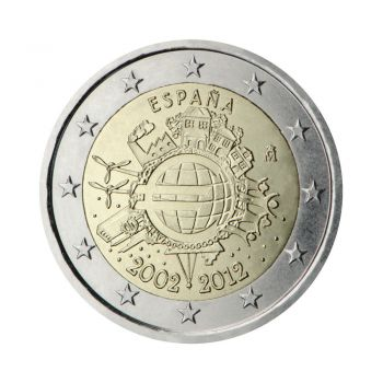 SPAIN 2 EURO COMMEMORATIVE 2012 ROLL 25 UNC COINS