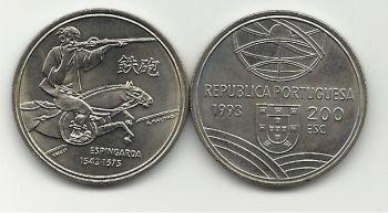 200 ESCUDOS - KM# 666 - ESPINGARDA - 1993 - UNC - COPPER-NICKEL