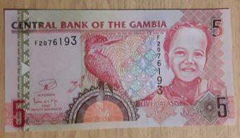 GAMBIA 100 DALASIS 2015  UNC