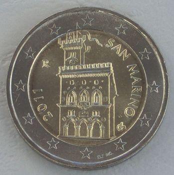 SAN MARINO 2 EURO 2011 ROLL 25 UNC COINS