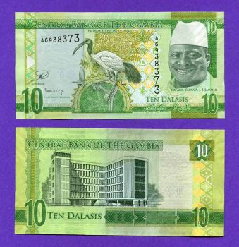 GAMBIA 10 DALASIS 2015  UNC