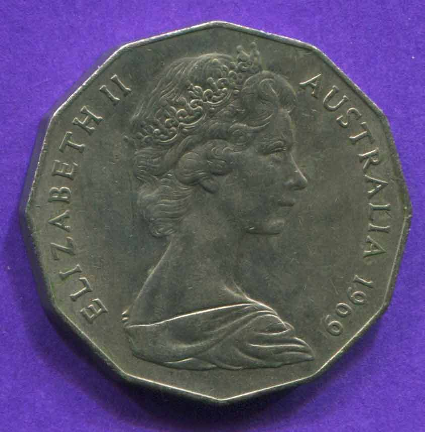 australian 50 cent coin 1969 value