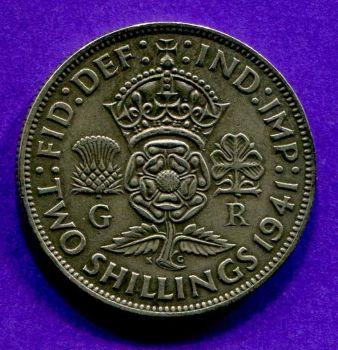 ENGLAND 2 Shilling ασημένιο 1941