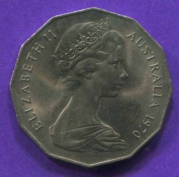 AUSTRALIA 50 CENTS 1970 AU-UNC
