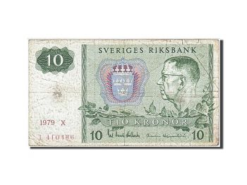 SWEDEN 10 KRONOR 1979 UNC