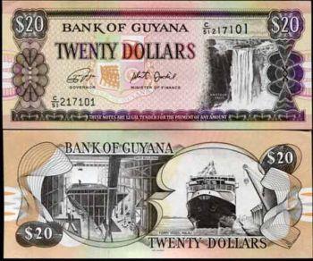 GUYANA 20 DOLLARS ND 2018 UNC
