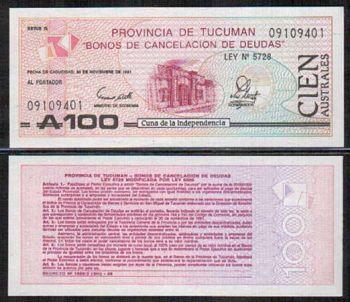 ARGENTINA - 100 AUSTRALES 1991 UNC