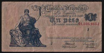 ARGENTINA 10 Pesos ND (1970-1973) UNC